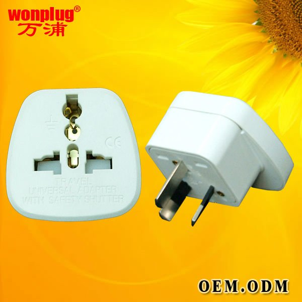 top selling Australia 3 metal pin plug&universal power socket with safe shutter