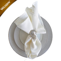 China supplier wholesale custom restaurant cloth table linens white fancy hotel dinner cotton table napkins