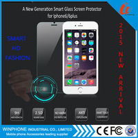 2015 New Design Smart Tempered Glass with return keys Screen Protector for iphone 6S with confirm button