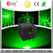 China Green Mini 2W Laser Data Show Projector Christmas Laser Light with SD