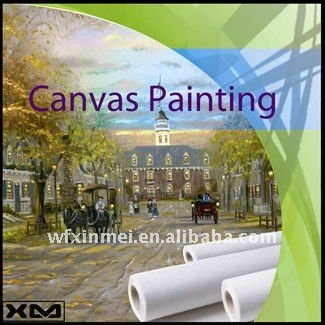 Artist Traditional Painting Silky Satin Canvas