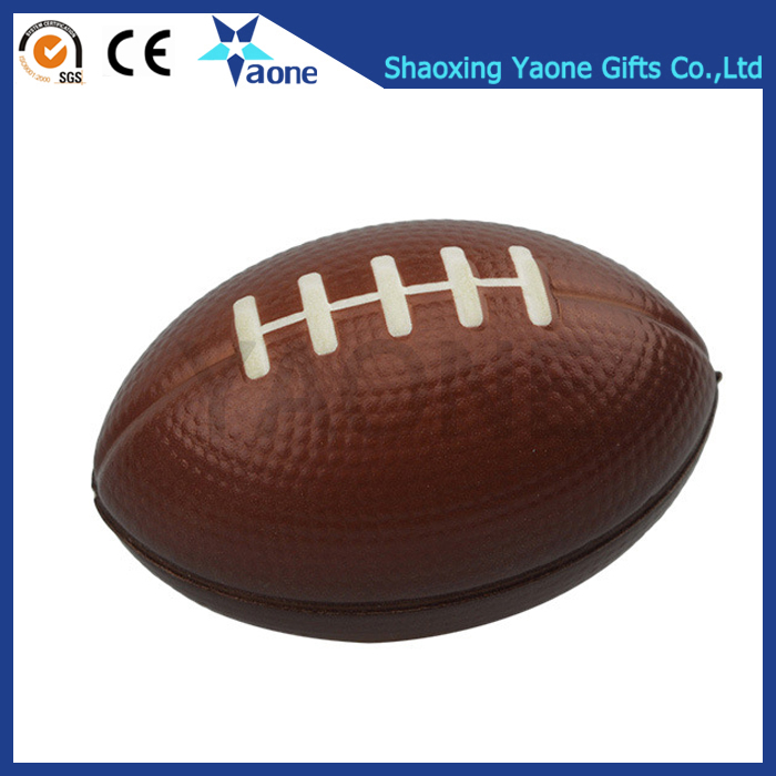 Custom Logo Print Soft PU Anti-stress Sport Argos Rugby Stress Ball Squeeze Toy Wholesale