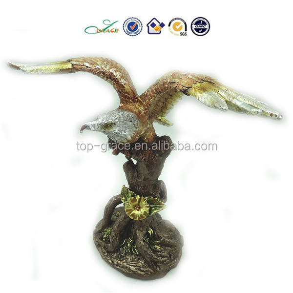 2015 plated gold American resin eagle sculpture
