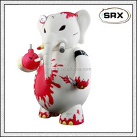 custom soft pvc plastic elephant vinyl figurine/custom plastic animal vinyl figurine/custom elephant plastic vinyl figurine make