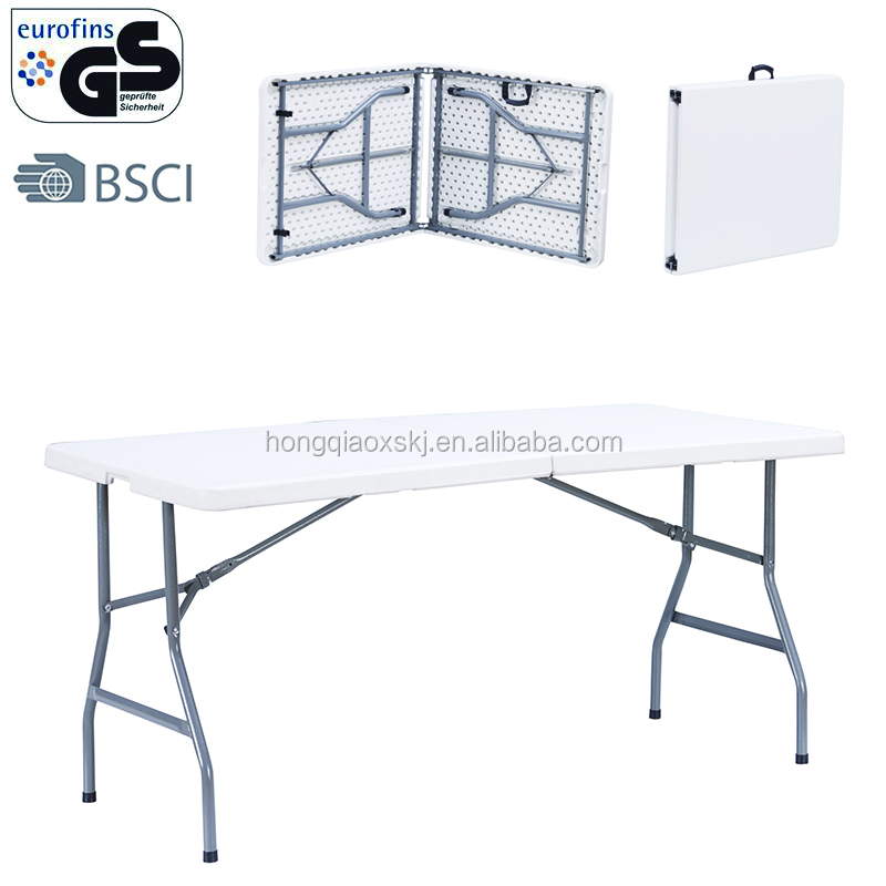 8ft 240cm portable fold in half long table 8 seaters