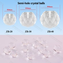 factory 20mm Diamond fiber optic light ball Crystal Bead for Chandelier pendant ceiling light