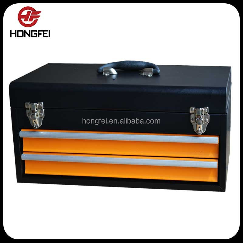 spot weld 18 inch tool box cart trolley in black and <strong>orange</strong>