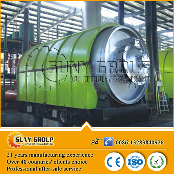 high output carbon black processing tire recycling oil machine