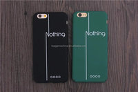 Nothing Letter hard back case cover for iPhone 5 5s 6s 6plus Phone casing