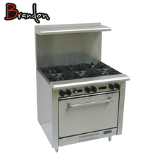 Heavy Duty Range Restaurant Equipment Kitchen Burner Fast Food 6 Burner Gas Stove With Oven