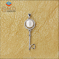 Costume jewelry fancy pearl sterling silver fashion jewelry