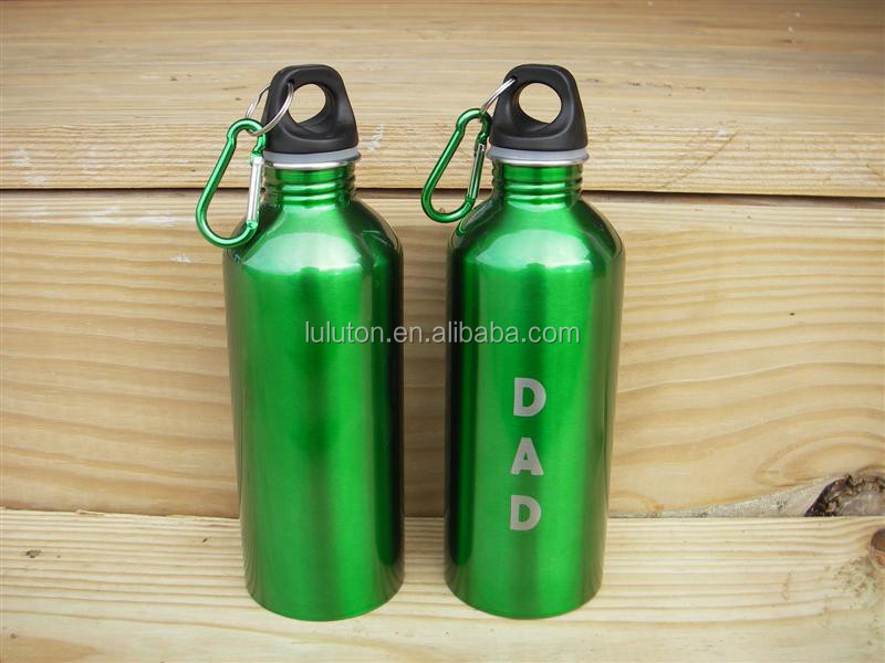 kids Water Bottle with Carabiner for promotion aluminum water bottle dollar tree