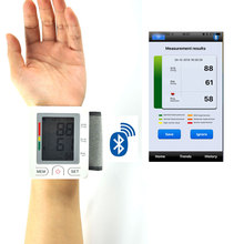 Medical wireless blood pressure meter digital wireless wrist blood pressure monitor