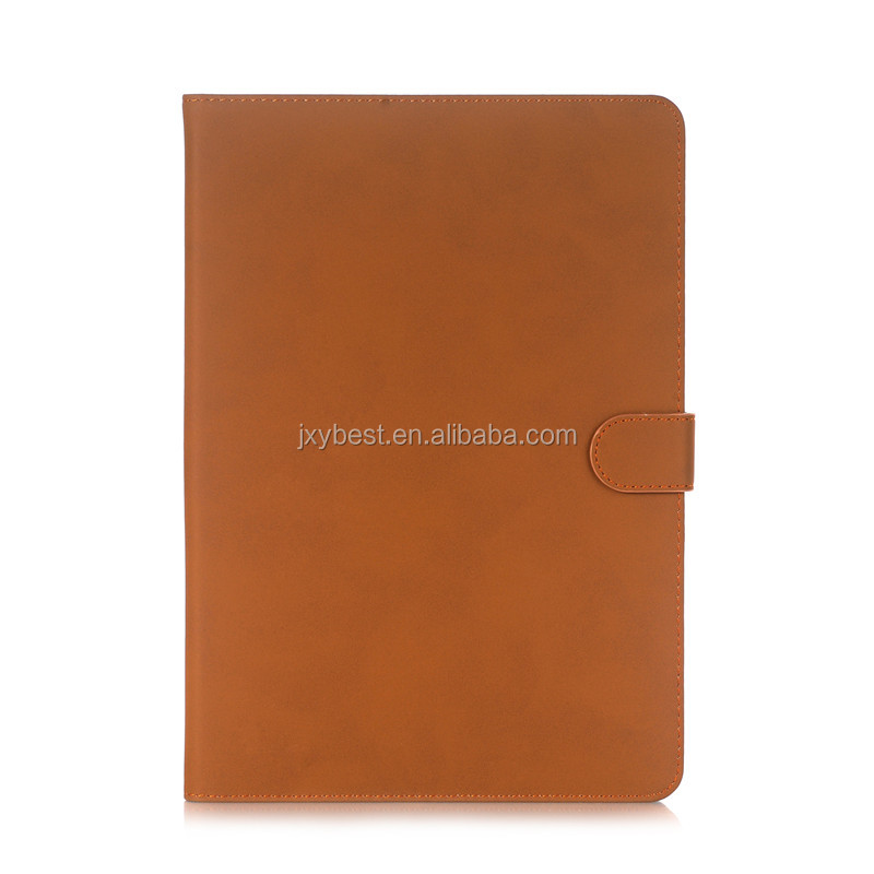 Factory custom retro leather smart cover stand flip case for ipad pro 10.5