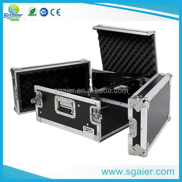 Hot sale cheap price 18u Aluminum racks flight cases with 10u slant rack and wheels