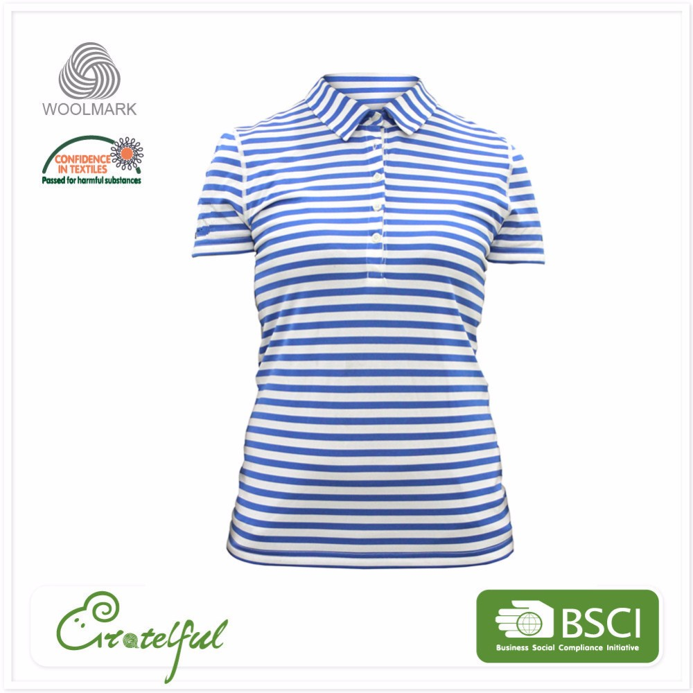 Breathable sports oversized polo wholesale women's short sleeve lady t-shirt