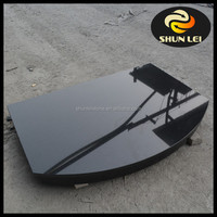 Chinese absolute black granite fireplace hearth slabs