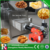 Electric/gas heating deep fryer, oil-water separation frying chicken wing machine