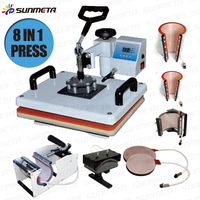 Freesub manufacturer Tshirt mugs plates caps multifunctional combo 8 in 1 heat press machine