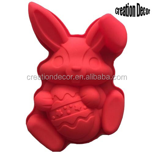 Easter Rabbit Egg silicone cake molds baking pans