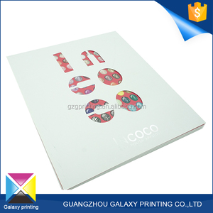 China printing house girl's manicure softcover book printing custom content details softcover book
