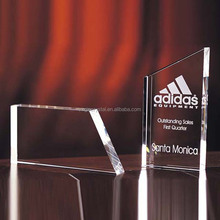 Laser Engraved Crystal Award Plaques with Custom Request