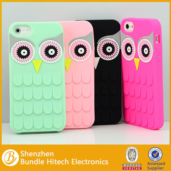 lovely funny silicone case for iphone 5,silicone case for iphone 5s