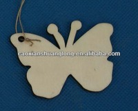 Hot sale new latest designed laser-engraving Butterfly Shape wooden ornaments for christams decoration