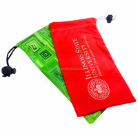 cute polyester eyeglass pouch, small soft bag , cleaning cloth pouch