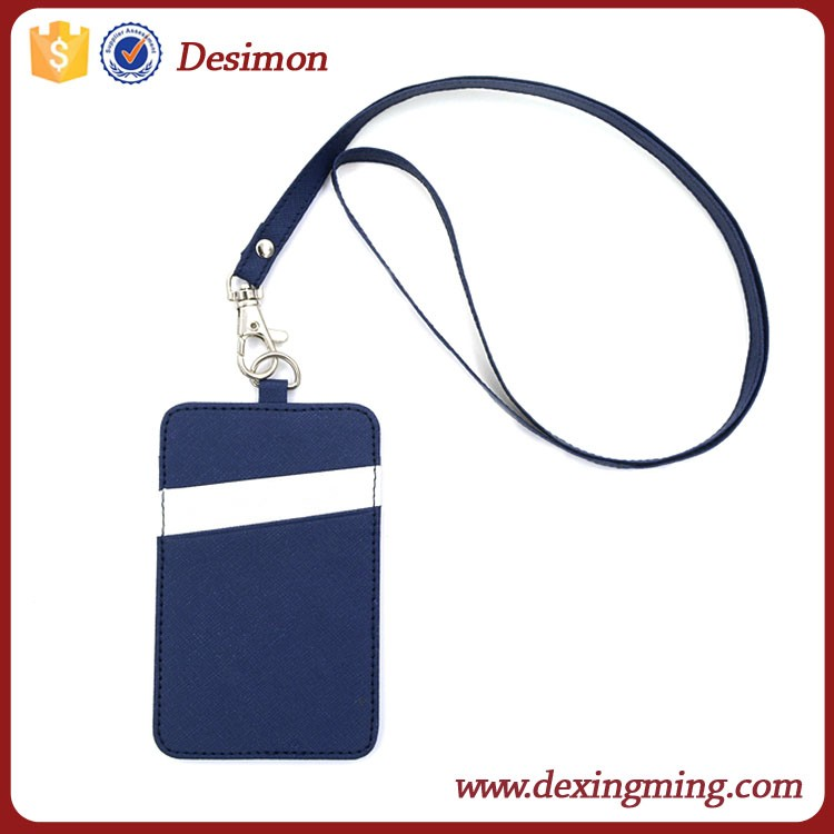 15 leather id card holder with lanyard shenzhen id badge holder leather hot selling