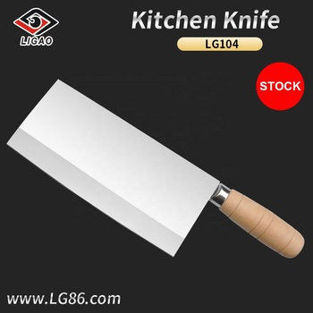 Eco-friendly stainless steel knife for kitchen and hotel with wooden handle