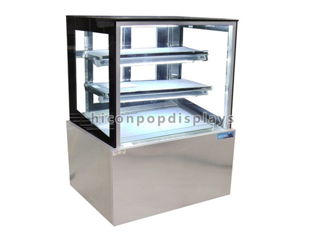 Table Top Glass Cover Wood Bakery Store Health Showcase Bakery Display Case Bread Display Cabinet