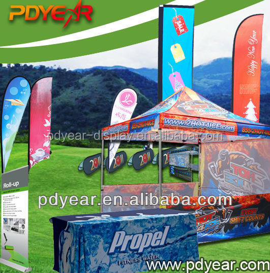 Out door Advertising Tear drop street flag pole ukuran banner