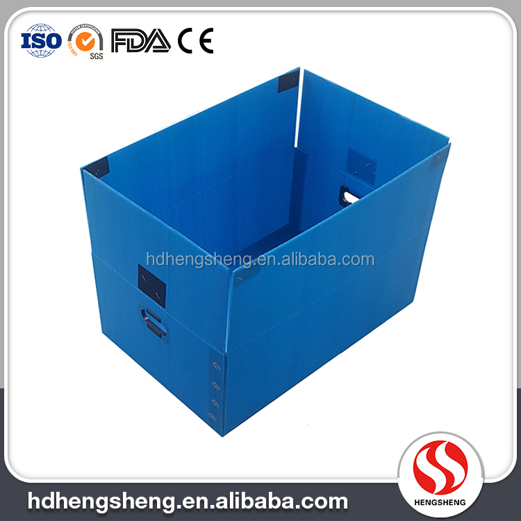 Newest anti-corrosive pp material corrugated plastic foldable box for wholesale