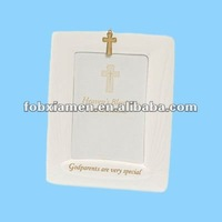 porcelain christian photo frame