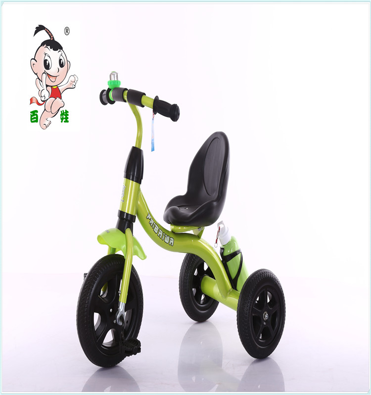 2017 China best selling products cheap ride on car kids metal tricycle with back seat