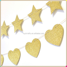 Gold Glitter Paper Background Party Banner