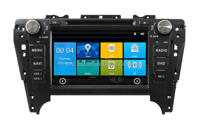 car dvd player for toyota camry 2012 car dvd gps navigation with radio TV bluetooth car gps navigation system