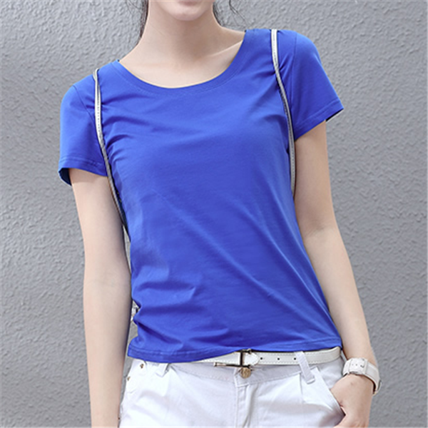 Fresh Color Custom Mercerized Cotton T Shirt Wholesale Plain Basic Slim Fit T shirt