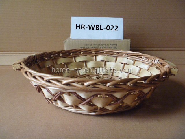 round willow handled fruit basket hot sell in UK