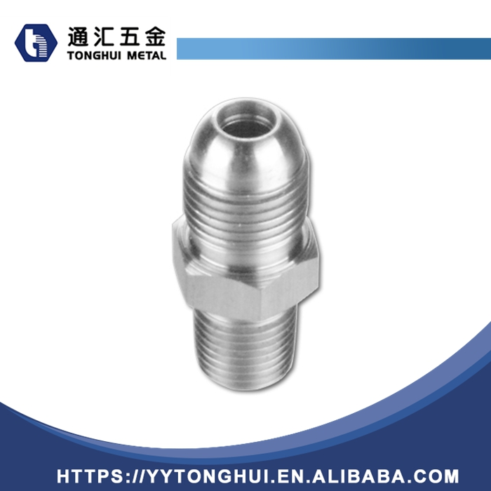 Hydraulic stainless steel JIC thread pipe fitting adapter