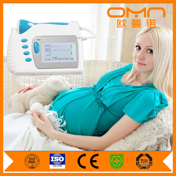 Baby Heartbeat Monitor Home Used Color Ultrasound Fetal Doppler Echo Doppler with FDA for OEM