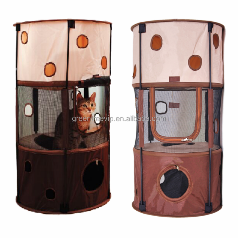 Comfortable Wholesale indoor cat house cat play house
