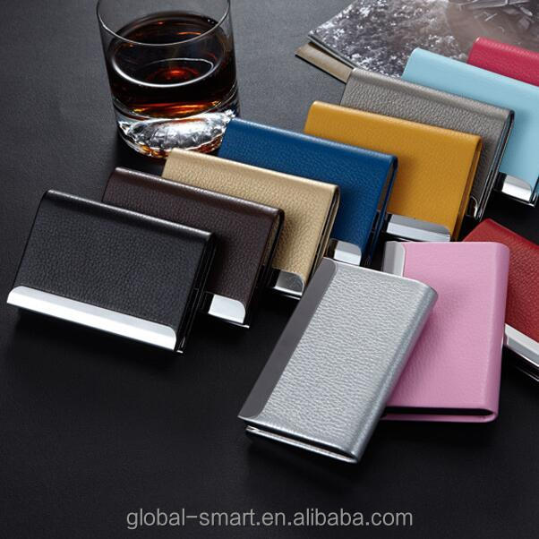 Men Women Universal Portable Card leather Holder Pocket Compact Business name card Cover case Wholesale prices