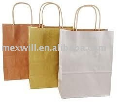 Metallic Color Paper Shopping Bags