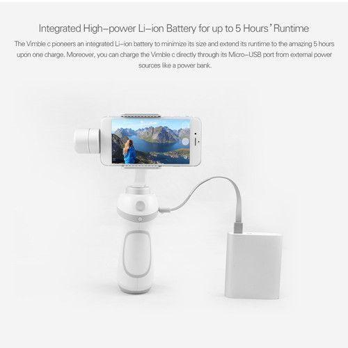 FeiyuTech Vimble c Smartphone Gimbal Face Tracking Panorama Shooting Dynamic Time-Lapse iphone gimbal