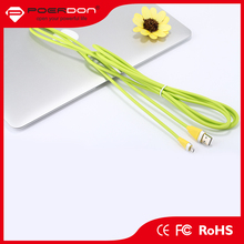 Novel design packing colorful usb data cable for samsung mobile phone