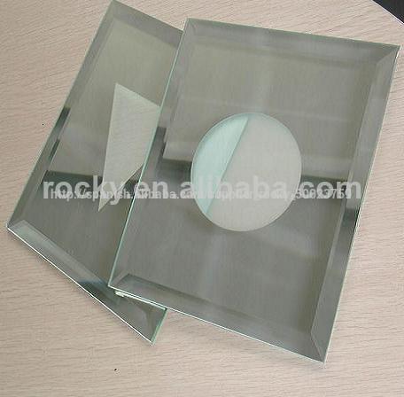 sin marco biselado espejo de cuarto de bao de vidrio