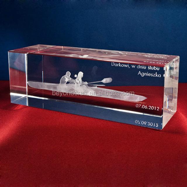 Big Size 3D Crystal Cube Laser Engraving Block Sports Souvenirs