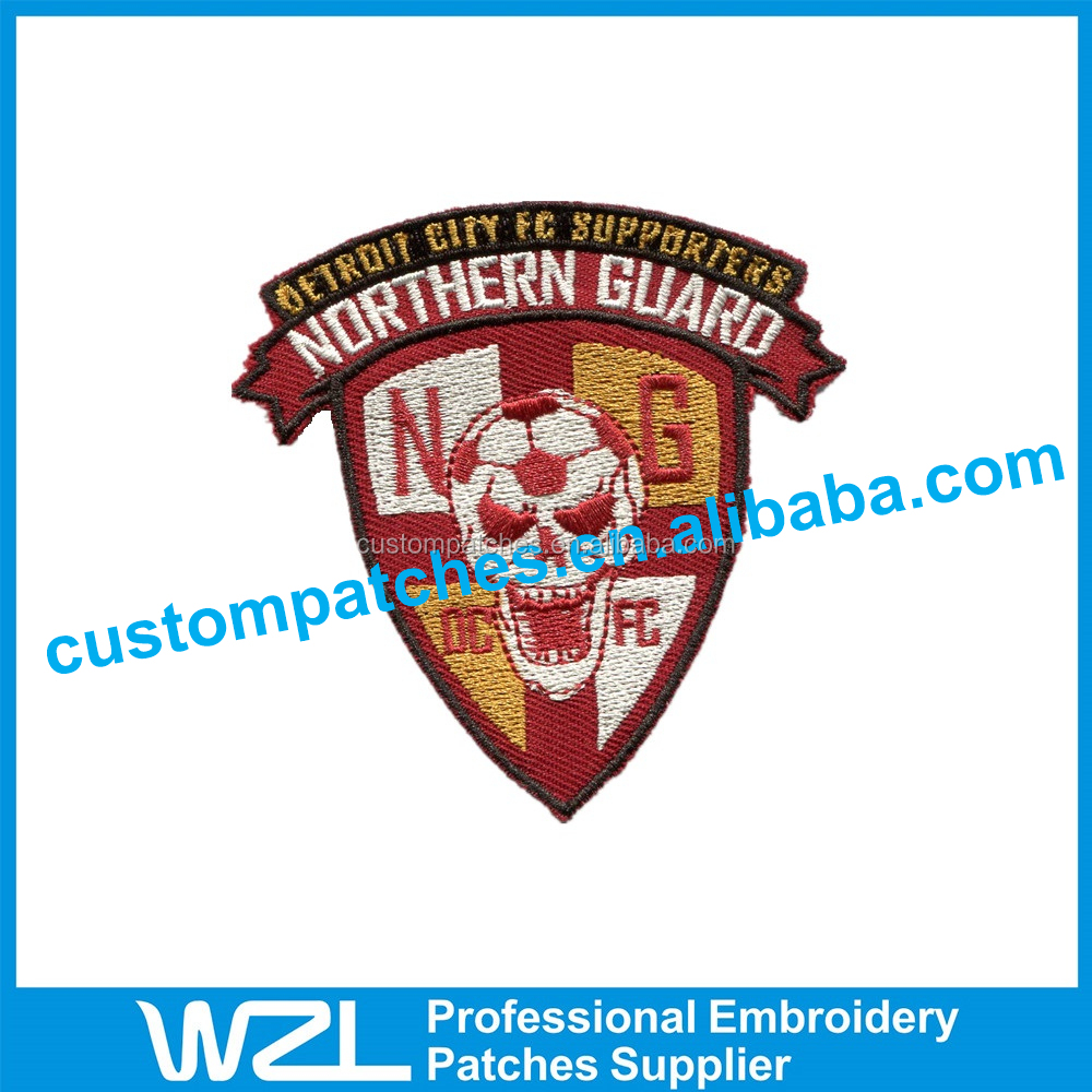New Design Custom Slim Embroidery Patch for Uniform Clothing